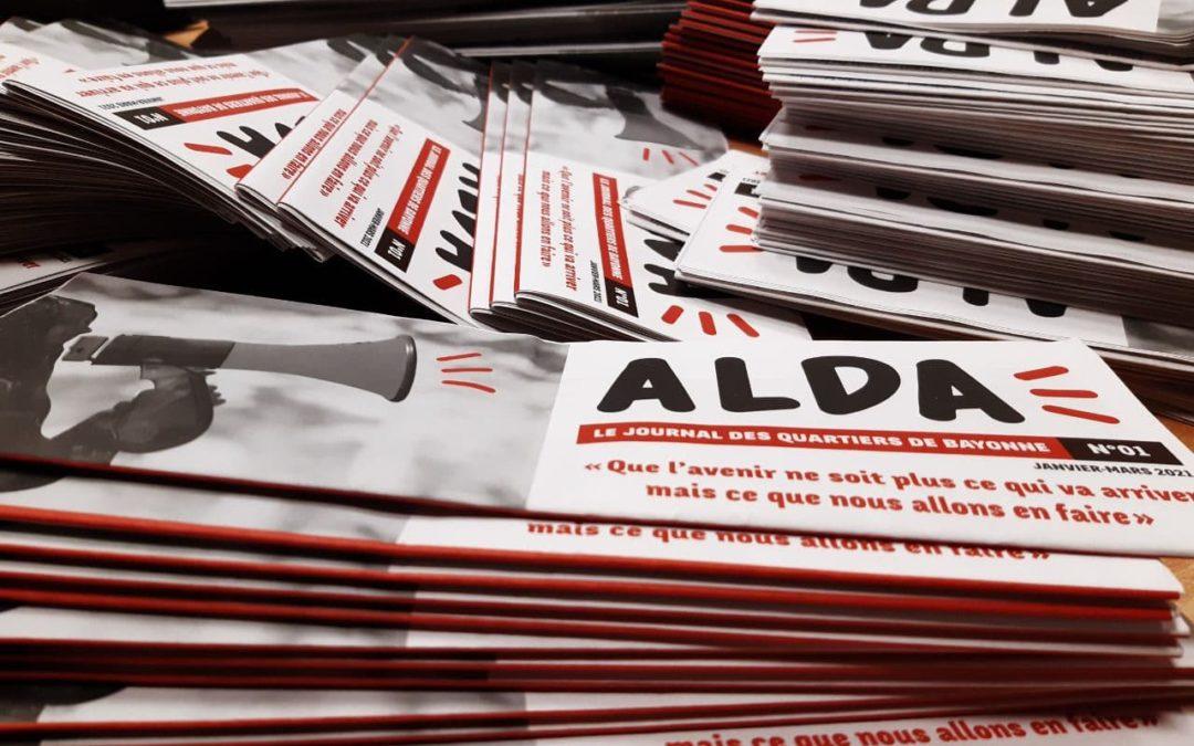 Alda sort le 1er numéro du journal des quartiers de Bayonne