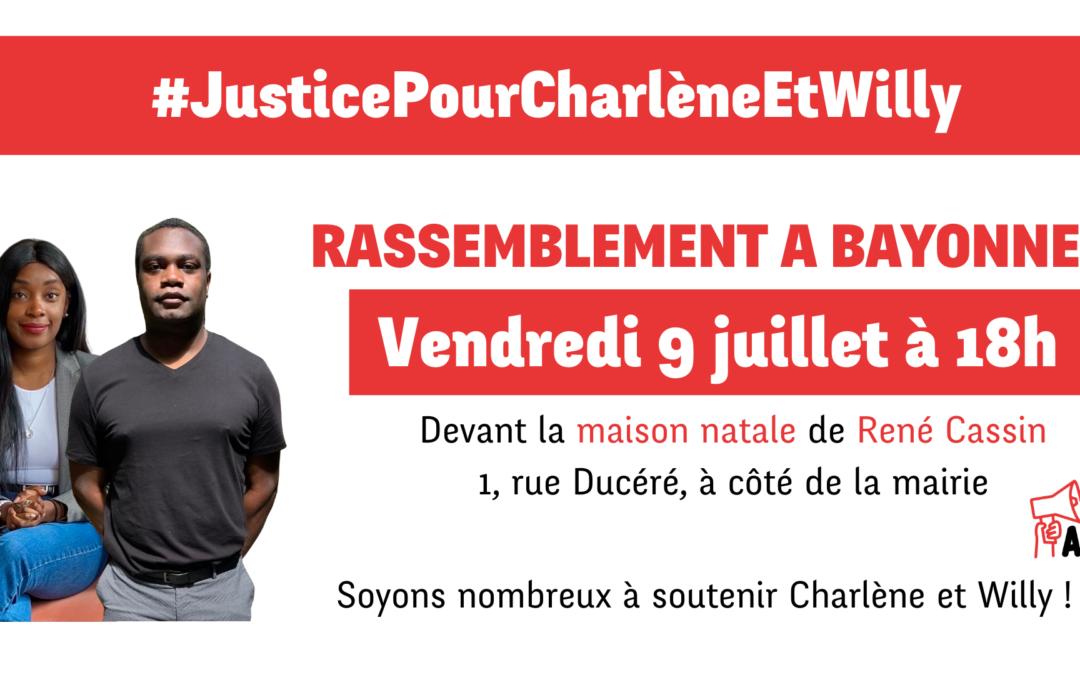 Solidarité avec Charlène et Willy