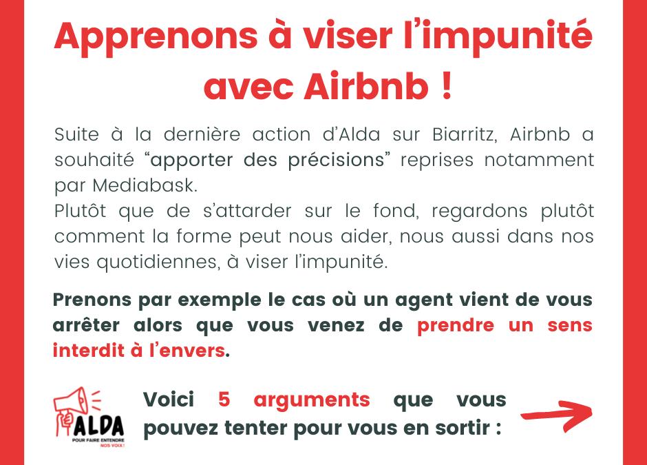 Apprenons à viser l'impunité avec Airbnb !