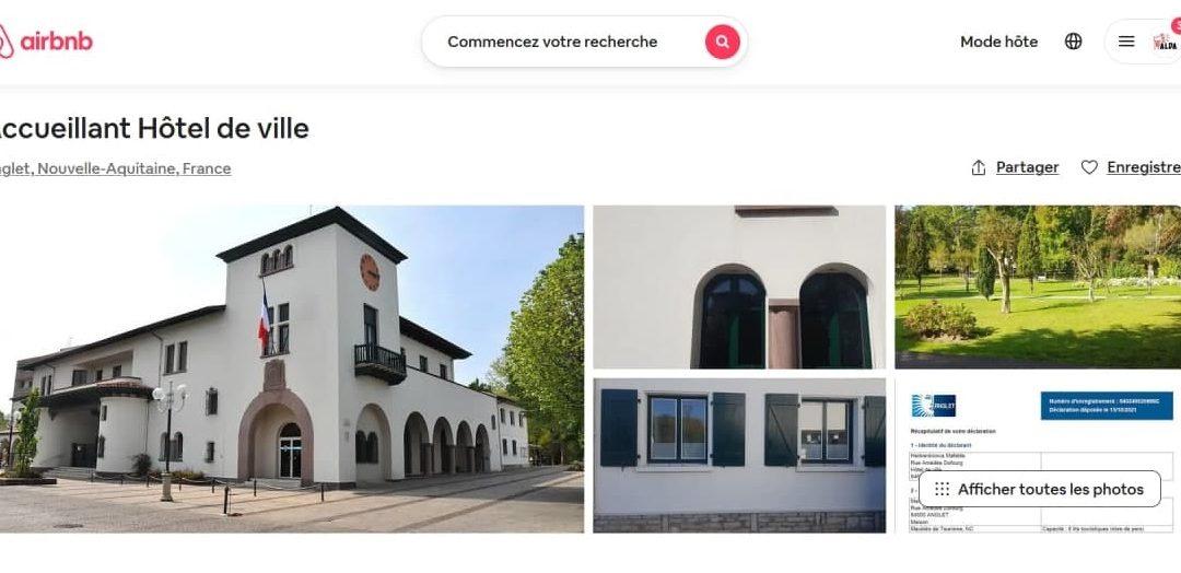 Alda met la mairie d'Anglet en location sur Airbnb